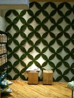 moss wall installation - 2010 spring Anthropologie SLC