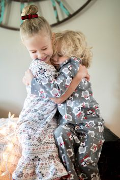 Super cute matching sibling pajamas are now available at Lily Grace Design 2 on Etsy. The fair isle nightgown looks so cute with our flannel polar bear full pajama set. Boys Pajama Pants, Boys Pajamas, Kids Pants, Pajama Set, Family Pjs, Matching Family Christmas Pajamas, Buffalo Plaid Pajamas, Flannel Pajamas, First Birthday Outfits
