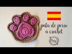 COMO TEJER una huella de perro o gato a CROCHET (diestro) - YouTube