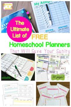 Planning a homeschool year? Free printable homeschool planners allow you to plan your homeschool year for less and are the best free homeschool planners.