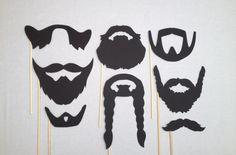 8 barba foto Booth Props Movember apoyos de la por CleverMarten