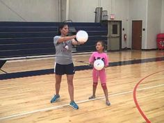 4th-8th grade volleyball overhand serving - YouTube