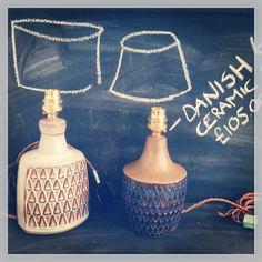1960's Danish ceramic desk lights - Forest London