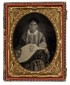 (c.1840s-1850s) Black American Nanny and her White Charge
