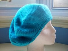 Classic slouchy beret hand knitted merino wool by SpinningStreak, $30.00