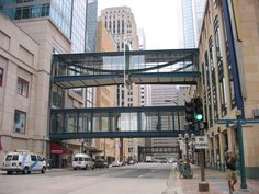 In Minnesota, it is so cold they have this thing called Skyway's to walk from building to building!  So cool... went here for a Great Clips convention one year!