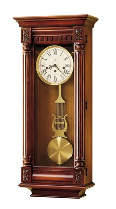 New Haven Wall Clock. This sophisticated mechanical wall clock has beautiful gold accents. - Key-wound, Westminster chime Kieninger movement plays 1/4, 1/2, and 3/4 chimes accordingly with full chime and strike on the hour.  - An industry exclusive dual-ratchet winding arbor ensures safe movement winding. - Chime silence option and durable bronze bushings  - Designed and Assembled in the USA.