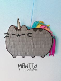 Pusheen cat piñata / Party favors for kids / Piñata Pusheen Gatos / Piñatas para fiestas infantiles