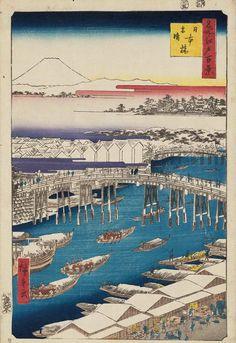 名所江戸百景 日本橋雪晴 Nihonbashi, Clearing After Snow (Nihonbashi yukibare) / Meisho Edo hyakkei (One Hundred Famous Views of Edo) 歌川広重 Utagawa Hiroshige