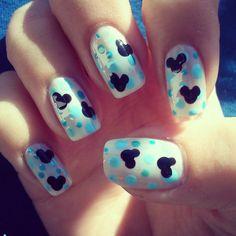 @najlepsinoktii  Disney Inspired Nail Art Pastel :D