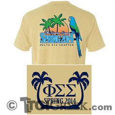 TGI Greek - Phi Sigma Sigma - Comfort Colors - Greek T-shirts #TGIGreek #PhiSigmaSigma