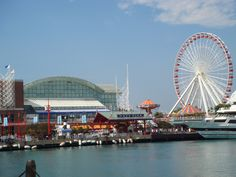 Navy Pier - Chicago, Illinois that where we went when we were in Chicago to see my brother graduate from boot camp.