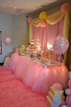 Pin by elisha nava on babyshower ideas праздник принцессы, и Princess Party Decorations, Girl Baby Shower Decorations, Birthday Party Decorations, Baby Shower Themes, Birthday Parties, Shower Ideas, Pink Decorations, Ballerina Birthday, 1st Birthday Girls