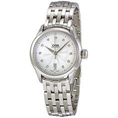 Oris Artelier Diamond Stainless Steel Ladies Watch 561-7604-4041MB - Ladies Watches - Jomashop