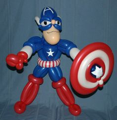 balloon twisting images of Captain America