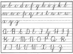 cursive handwritng chart lower & upper. copywork!