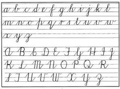 cursive handwritng chart lower & upper                                                                                                                                                                                 More