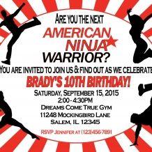 American Ninja Warrior Invitation www.sweetdesignsbyregan.com $11 ...