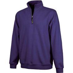 Charles River Women's Purple Crosswind Quarter Zip Sweatshirt