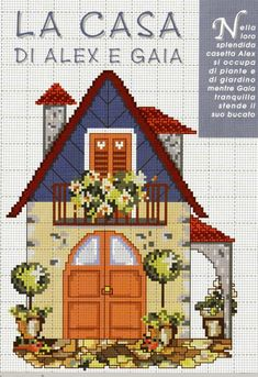 Cross Stitch House, Cross Stitch Charts, Cross Stitch Designs, Cross Stitch Embroidery, Cross Stitch Patterns, Pixel Art, Christmas Embroidery Patterns, Cross Stitch Landscape, Blackwork