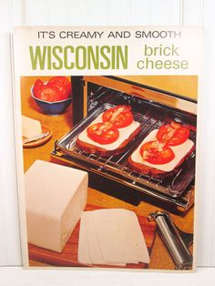 Vintage Poster Brick Cheese Wisconsin Retro by vintagegoodness, $19.95