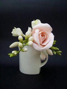 Rose and freesia