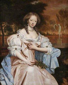 John Michael Wright (British artist, 1617-1694) copy of... Grace Wilbraham, Countess of Dysart c 1673-77