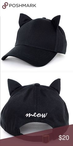 Cat ear onyx black empyre meow hat ⚡️NO trades  ⚡️open to ALL offers!  ⚡️ bundle for MAJOR discounts!  ⚡️feel free to ask any questions ⚡️ I will not respond to offers in the comments, please use the offer button for all offers.  ⚡️Please only ask for model photos if you are very interested! empyre Accessories Hats