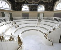 Beautiful 18th century interior in the Anatomical Theatre, berlin