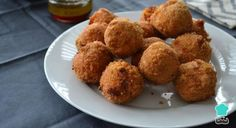 Receta de Croquetas de berenjena y queso parmesano #RecetasGratis #RecetasdeCocina #RecetasFáciles #Tapas #TapasOriginales #Pasapalos #Canapés #Aperitivos #TapasEspañolas #croquetas