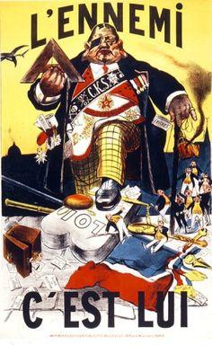 Jules Grandjouan, L'ennemi, c'est lui, 1900.