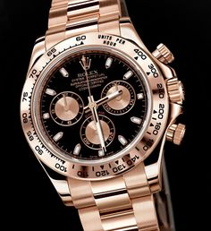 Rolex Cosmograph Daytona, Ref#116505.  Rose gold, black face, 'Nuff said.  $30000.00
