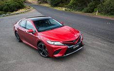 Download wallpapers Toyota Camry SX, 2017 cars, road, new Camry, japanese cars, Toyota