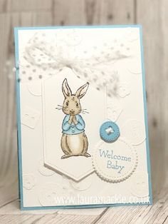 Stampin' Up! UK Demonstrator Laura Mackie : Stampin' Up! Fable Friends New baby Card Lifestyles, lifestyles and quality of life … Baby Boy Cards Handmade, New Baby Cards, Handmade Cards, Button Cards, Stamping Up Cards, Baby Shower Cards, Animal Cards, Cards For Friends, Baby Scrapbook