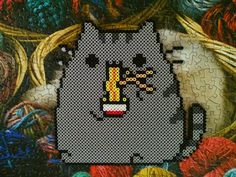 I used a gif emote by to make this! I've always wanted a big pusheen, and this one's adorable >_<