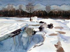 'Dachauer+Moos+im+Winter'+von+Claudia+Färber+bei+artflakes.com+als+Poster+oder+Kunstdruck+$16.63