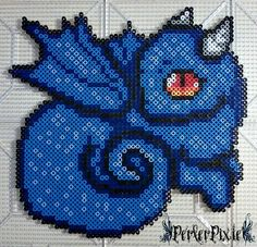 Blue Baby Dragon by PerlerPixie