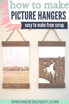 Picture Hangers, Picture Frames, Wood Projects, Craft Projects, Diy Home Accessories, Simple Pictures, Do It Yourself Home, Craft Tutorials, Diy Crafts For Kids