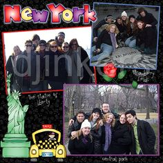 New York scrapbook page, New York clip art