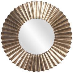 Howard Elliott Olivia Silver Leaf Mirror 53058