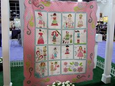 Made With Love: Quilt Market- Booths and Designer Sightings! Lots of photos of quilt show booths
