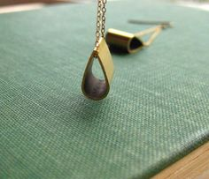 Vintage cut raw brass teardrop earrings by TimberAndTack on Etsy, $18.00
