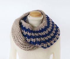 ルネッタで編む1目ゴム編みのスヌード | 手づくりレシピ | クロバー株式会社