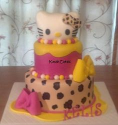 Leopard Hello Kitty Cake - Cake by Katie Cortes