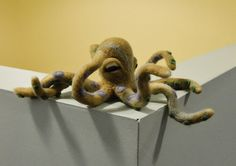 - Needle felted octopus