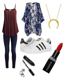 """""""Nala-Rose"""" by queen1997nat on Polyvore featuring adidas, Bobbi Brown Cosmetics and Smashbox"""