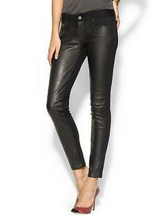 Emily Leather Pant by Paige  I'm pinning these mostly because of how laughable the price is: $598