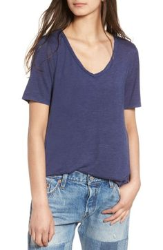 Free shipping and returns on BP. Raw Edge V-Neck Tee at Nordstrom. d90686dc745a