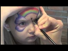 "Very fast rainbow butterfly  And starblend ""eye shadow"" and little color on lips."