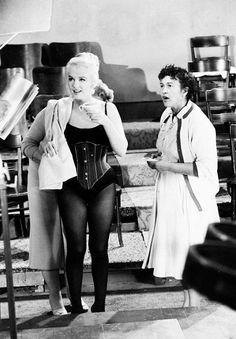 Marilyn Monroe, on set of Lets Make Love 1960.